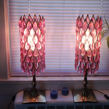 My Grandmother's Pink Acrylic Crystal Lamps