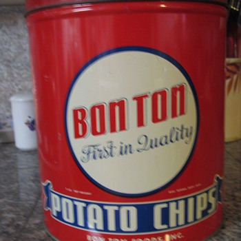 Bon Ton Potato Chip Container - Advertising