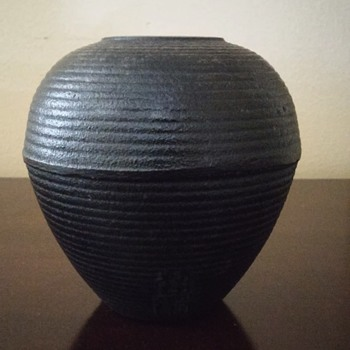 Old cast Iron Asian Vase