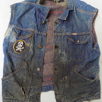 1960s Patched Biker Gang Denim Jacket