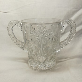 Imperial Glass #474, Cosmos, spooner - Glassware