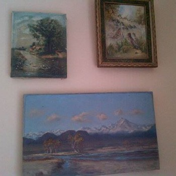 Three antique paintings - Visual Art