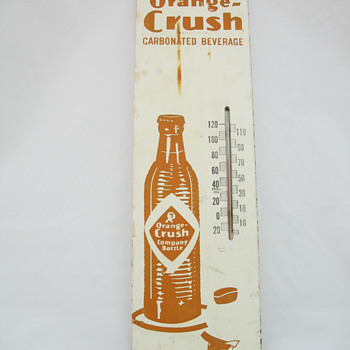 Wooden Orange Crush Thermometer - Advertising
