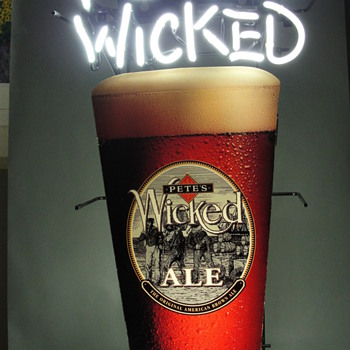 Pete's Wicked Ale Beer Glass Neon Sign - Signs