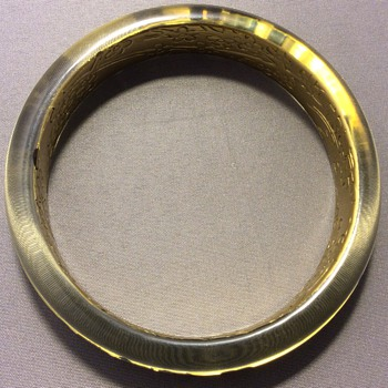 Lucite ? Bangle - Costume Jewelry