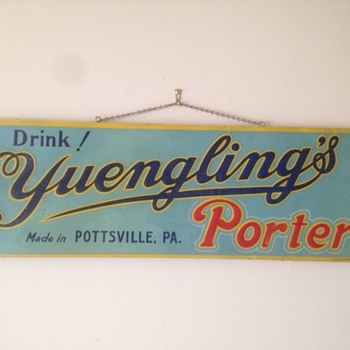 Drink Yuengling's Porter Tin Sign - Breweriana