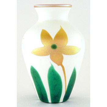 "A 6-1/2"" Quezal vase"