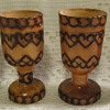 Little wooden goblets