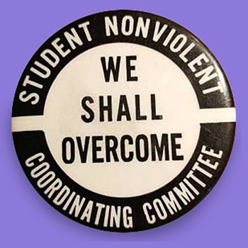 1960s Student Nonviolent Coordinating Committee Pinback - Medals Pins and Badges