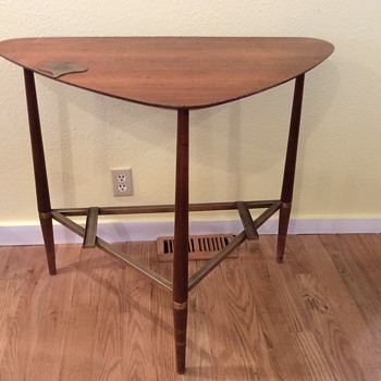 Vintage Teak triangle table