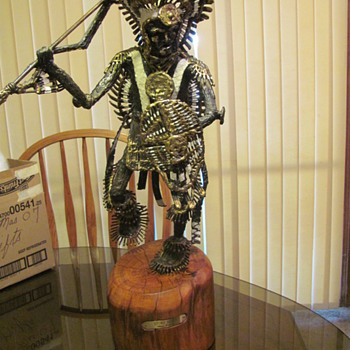 Kiawa Brave part 2  bronze sculpture from James H. Scorse - Native American