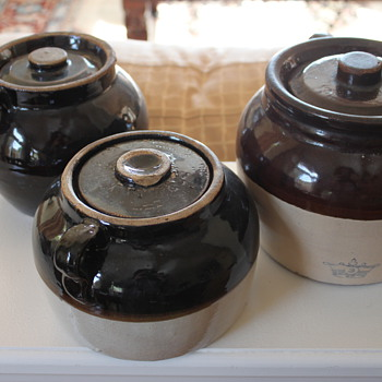 Stoneware Bean Pots