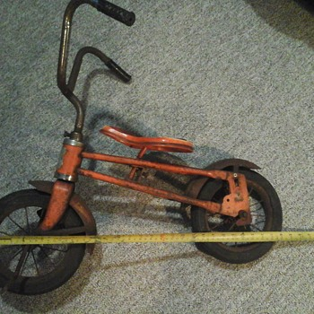 vintage hard rubber two wheel bike