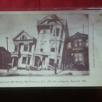Post-San Francisco Earthquake Postcard