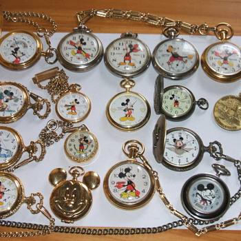 Just A Few Mickey Pocket Watches - Pocket Watches
