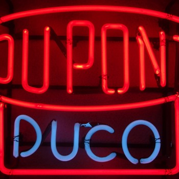 DUPONT DUCO VINTAGE NEON SIGN