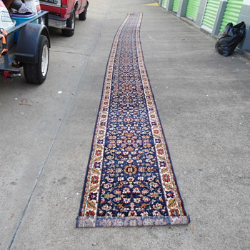 Beautiful 39Ft Vintage Wool Runner Persian?