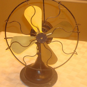 1920s Arctic Brass Blade Fan