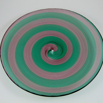 Barovier and Toso Murano Glass Signed Plate