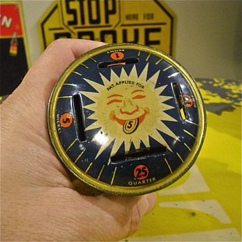 Sunshine Tin Bank - Coin Operated