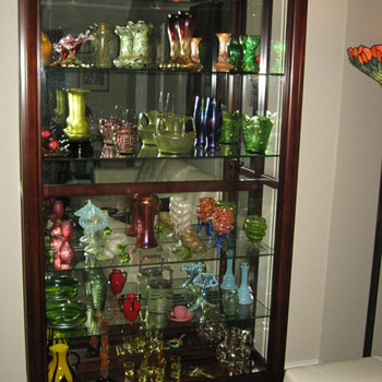 LONG AWAITED AND MUCH NEEDED NEW DISPLAY CASE  - Art Glass