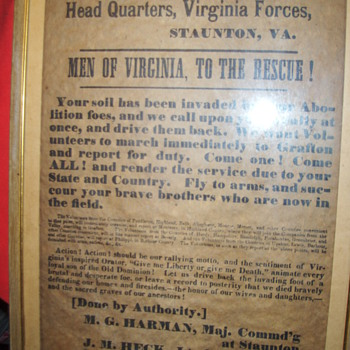 1861  call to arms poster