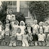1940&#039;s School kids unhappy bunch :-( Love the coveralls !