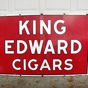 King Edward Cigars Porcelain Sign - Signs