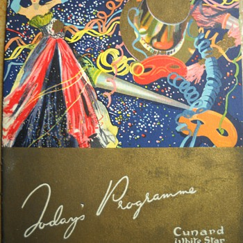 Mom's 1947 Cunard White Star Brochures