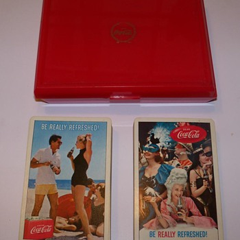 "Double deck of 1960 Coca-Cola playing cards - ""Be Really Refreshed"" - Coca-Cola"