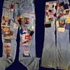 """#15 ~ 1960's """"Off Limits"""" Patched Hippie Denim Jeans"""