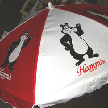 Hamm's Beer Umbrella - Breweriana
