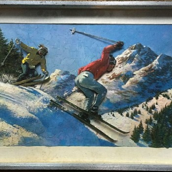 Ski Diorama - Posters and Prints