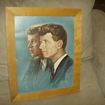 John and Robert F. Kennedy Painting
