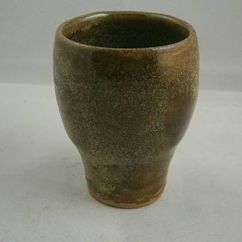 studio pottery glass cup chalis possibly scottish