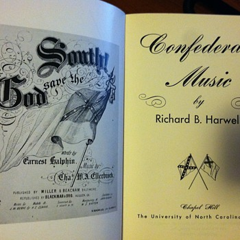 Confederate Music book - Books