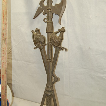 Cast Bronze or Brass Swords and Axe Ornamental Hanging decor