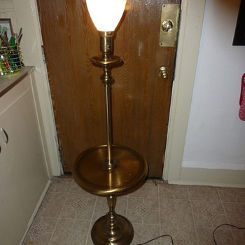 Antique National brass floor lamp