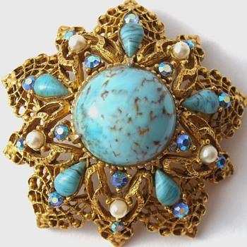 Florenza brooch pendant combo