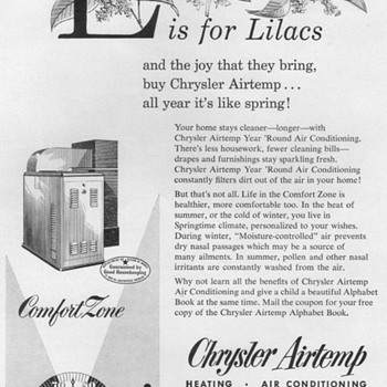 1953 - Chrysler Airtemp Air Conditioner Advertisements - Advertising