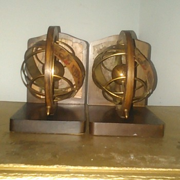 treasure island bookends old world globe