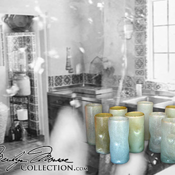 Marilyn Monroe's Personal Mexican Soda Tumblers - Glassware