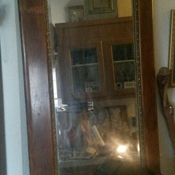 Old Mirror given to me 30 years ago. It was old then. - Furniture