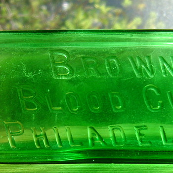 BROWN'S BLOOD CURE, PHILADELPHIA - Bottles