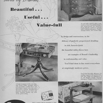 1950 Brandt Tables Advertisements - Advertising