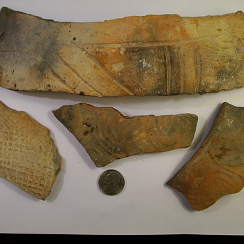 Timucuan Indian Pottery Pieces Found at a Dig Near My Home 1300's-1500's - Native American