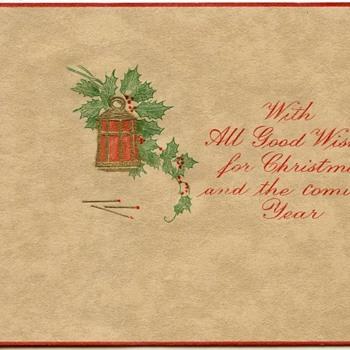1920's Christmas card - Christmas