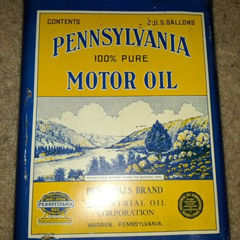 Pennsylvania Motor Oil Can