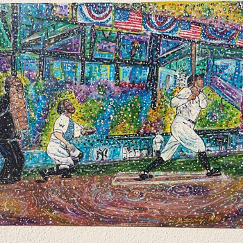 Original Babe Ruth Painting