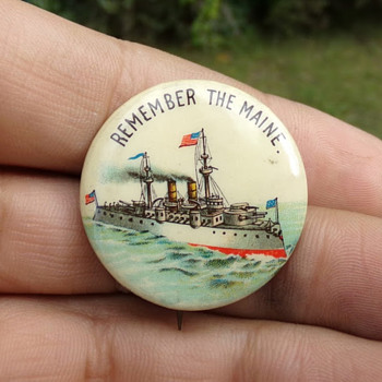 1898 Battleship Pin - Medals Pins and Badges